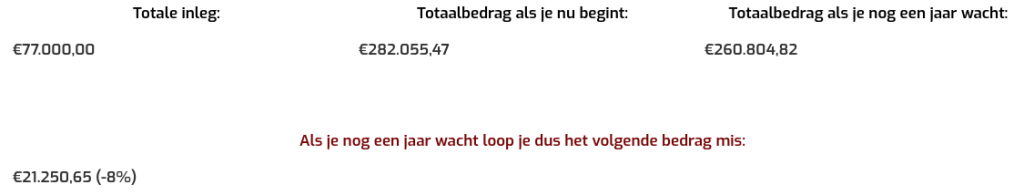 Uitkomst calculator