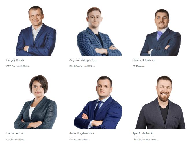 Het team met Sergey Sedov