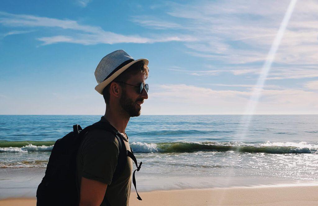 Ik in Portugal tijdens mijn workaction