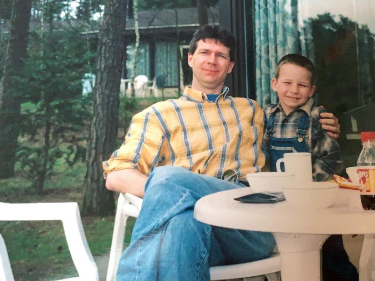 Mijn vader en ik vroeger