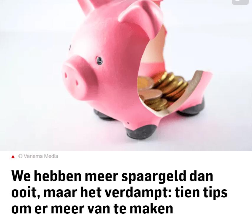 10 tips spaargeld AD artikel